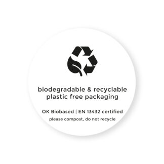 100% recycled stickers for business