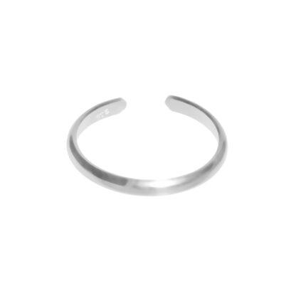small thin plain adjustable midi toe ring