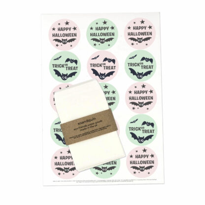 happy halloween party favour bags and stickers