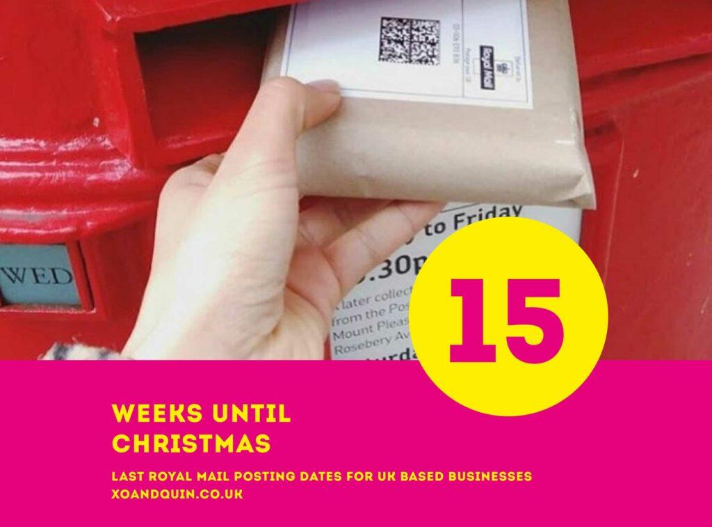 Last Royal Mail Posting Dates Christmas 2021