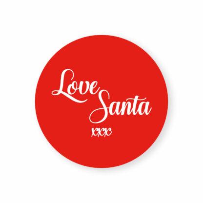 eco friendly love santa sticker label tags