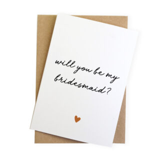 will you be my bridesmaid card reveal