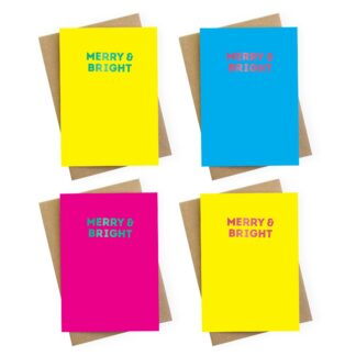 merry and bright luxury christmas cards